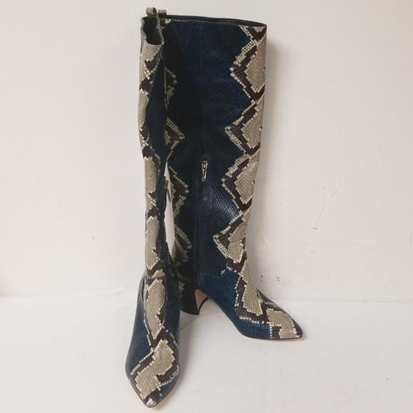 ae09bcdf3936d Sam Edelman Snake Print Hai Knee High Boots 5.5. M 5c45faeaaa57195ba0aded7d